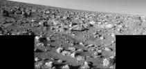 High-Resolution Mosaic - Mars Rocky Horizon