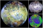 Global View of Io in various colors