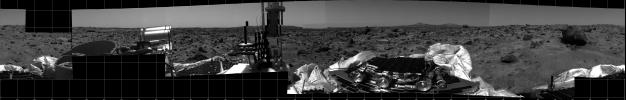 360 degree panorama of Martian surface