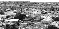 Sojourner Rover Leaving the Rock Garden - Left Eye