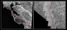 The San Andreas Fault and a Strike-slip Fault on Europa
