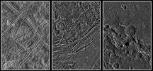 Europa, Ganymede, and Callisto: Surface Comparison at High Spatial Resolution