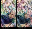 These two false-color composite images from NASA's Spaceborne Imaging Radar-C/X-band Synthetic Aperture Radar of the Mammoth Mountain area in the Sierra Nevada Mountains, Calif., show significant seasonal changes in snow cover.