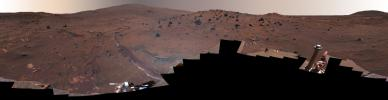 'McMurdo' Panorama from Spirit's 'Winter Haven' (False Color)