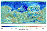 MOLA Global Map of Surface Gradients on Mars