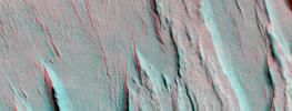 Layers of bedrock etched by wind to form sharp, elongated ridges known to geomorphologists as yardangs are commonplace in the southern Elysium Planitia/southern Amazonis region of Mars as seen by NASA's Mars Global Surveyor.