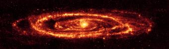 NASA's Spitzer Space Telescope has captured this stunning infrared view of the famous galaxy Messier 31, also known as Andromeda.