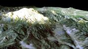 SRTM Perspective View with Landsat Overlay: Mt. Pinos, California