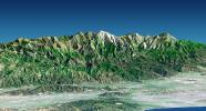 Perspective View with Landsat Overlay, Metro Los Angeles, Calif.: Malibu to Mount Baldy
