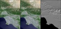 Landsat - SRTM Shaded Relief Comparison, Los Angeles and Vicinity