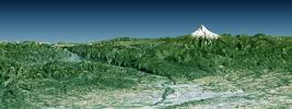 Portland, Mount Hood, & Columbia River Gorge, Oregon, Perspective View