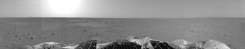 This image from NASA's Mars Exploration Rover Spirit shows the left panorama of the rover's landing site.