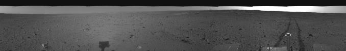 Spirit's View on Sol 110 (right eye)