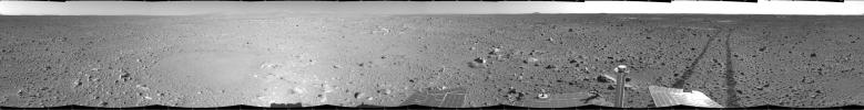 Spirit's View on Sol 123
