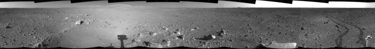 Spirit's View on Sol 142