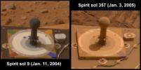 Dust on Mars: Before and After (Spirit)