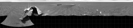 Opportunity's View on Sol 354