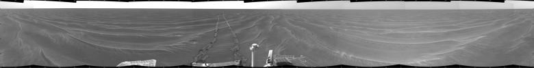 Opportunity View on Sol 398