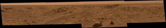 Opportunity Approaches the Bowl of Beagle Crater (True Color)