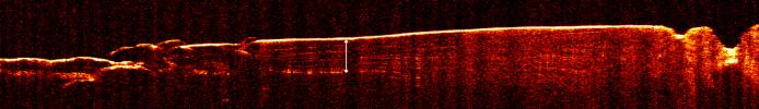 Radar View of Layering near Mars' South Pole, Orbit 1360