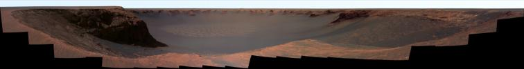 Panorama from 'Cape Verde' (False Color)