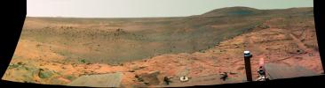 Spirit's West Valley Panorama (False Color)