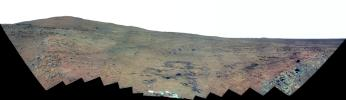 Southern Half of Spirit's 'Bonestell' Panorama (False Color)