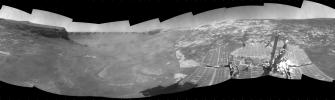 Opportunity View During Exploration in 'Duck Bay,' Sols 1506-1510