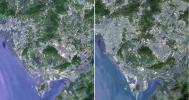 Shenzhen is a city of sub-provincial administrative status in southern China's Guangdong province, immediately north of Hong Kong, and located in the Pearl River Delta. This image was acquired by NASA's Terra spacecraft.