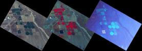 These three images are from NASA's ER-2 aircraft which imaged the area around the Palmdale, Calif., airport during its first checkout flight on Oct. 7, 2010. For more details, go the Photojournal.