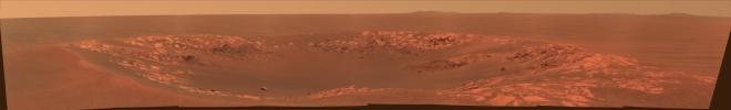 'Intrepid' Crater on Mars (Color)
