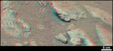 NASA's Curiosity rover found evidence for an ancient, flowing stream on Mars at a few sites, including a rock which the science team has named 'Hottah' after Hottah Lake in Canada's Northwest Territories. 3-D glasses are needed.