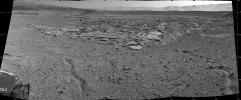 NASA's Curiosity Mars rover recorded this view of various rock types at waypoint called 'the Kimberley' shortly after arriving at the location on April 2, 2014. The site offers a diversity of rock types exposed close together.