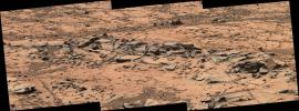 This small ridge, about 3 feet long, appears to resist wind erosion more than the flatter plates around it. Such differences are among the traits NASA's Curiosity Mars rover is examining at selected rock targets at the base of Mount Sharp.