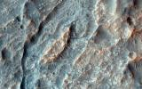 This closeup from NASA's Mars Reconnaissance Orbiter covers a region in the Eridania Basin that shows interesting inverted ridges.
