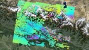 This deformation map from NASA's ARIA project shows surface displacements around Kathmandu, the April 25, 2015, magnitude 7.8 Gorkha earthquake in Nepal.