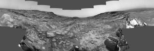 This 360-degree panorama from the Navigation Camera (Navcam) on NASA's Curiosity Mars rover shows the surroundings of a site on lower Mount Sharp where the rover spent its 1,000th Martian day, or sol, on Mars.