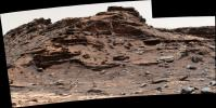 The top of the butte in this scene from NASA's Curiosity Mars rover is known as 'M9a' in the 'Murray Buttes' area, where individual buttes and mesas were assigned numbers.