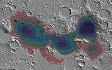 The Eridania basin of southern Mars is believed to have held a sea about 3.7 billion years ago, with seafloor deposits likely resulting from underwater hydrothermal activity.