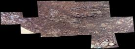 NASA's Opportunity rover captured this patch of rocky Martian ground on the floor of 'Perseverance Valley' on the inner slope of the western rim of Endurance Crater in October, 2017.