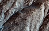 This image acquired on April 8, 2018 by NASA's Mars Reconnaissance Orbiter, shows the gullied western slopes of an unnamed crater (about 10 kilometers wide) in Acidalia Planitia.