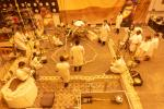 Engineers practice deploying InSight's instruments in a lab at NASA's Jet Propulsion Laboratory in Pasadena, California.