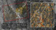 The ARIA team at NASA's Jet Propulsion Laboratory created this updated Damage Proxy Map (DPM) image depicting areas of Northern California that are likely damaged as a result of the Camp Fire.