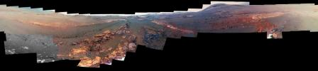 This is the last panorama NASA's Opportunity rover acquired before the solar-powered rover succumbed to a global Martian dust storm on June 10, 2018.