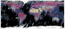 This mosaic was created from thumbnail browse images of data from NASA's Terra spacecraft.