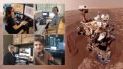 Members of NASA's Curiosity Mars rover mission team photographed themselves on March 20, 2020, the first day the entire mission team worked remotely from home.
