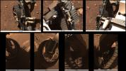 These sets of animated GIFs show seven views of NASA's Perseverance Mars rover wiggling its wheels on March 4, 2021, the day Perseverance completed its first drive on Mars.